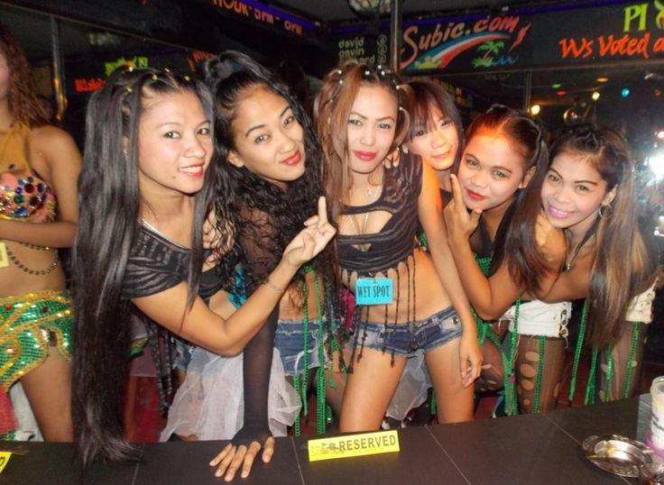 LIneup of Filipina bargirls in Angeles City