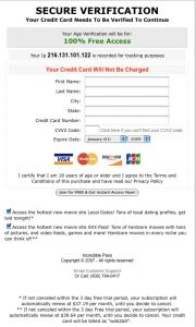 credit card subscription